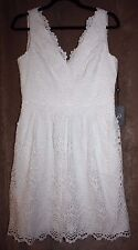 Adrianna Papell Fit N Flare Ivory Lace Dress Sleeveless Fully lined Size 8 NWT