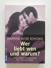 Daphne Rose Kingma Wer liebt wen umd warum Mosaik Goldmann Verlag 9 Partnertypen