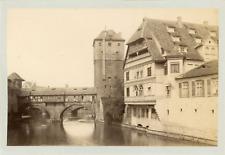 Nuremberg, Bayerischer Hof Vintage albumen print  Tirage albuminé  11x16