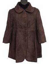 Fendi Womens Jacket Coat Suede Brown Size 38 US 4