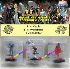 HEROCLIX MARVEL NEW MUTANTS 2015 MONTHLY OP KIT - Cable + Wolfsbane + Gladiator