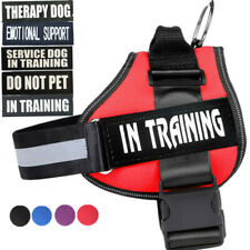 Doggie SERVICE DOG DO NOT PET Harness vest W/ Removable Patches IN TRAINING