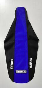 LOGO ENJOY MX STD Seat Cover Black Blue Yamaha YZ 125 250 1996 - 2001