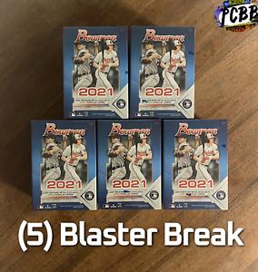 KANSAS CITY ROYALS - 2021 Topps Bowman Baseball 5 Blaster Box Card Live Break