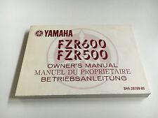 Yamaha FZR 500 ,FZR 600 (3HE) (1988) Fahrerhandbuch / Bedienungsanleitung