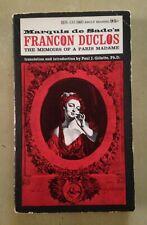 Francon Duclos Marquis de Sade Gillette 1967 Holloway Paperback Adult Salo GC