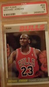 1987 Fleer Michael Jordan 2nd Yr. PSA 5