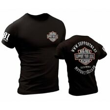 01 Hells Angel DILLIGAF Support81 Black T-Shirt