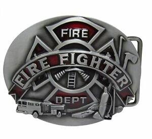 Belt Buckle Fireman Fire Fighter Department