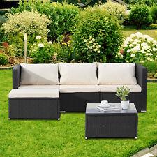 5 PC Patio PE Rattan Wicker Sofa Set Backyard Outdoor Garden Furniture Cushioned