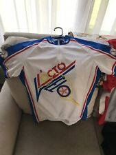 Verge Women's Cycling Jersey Short Sleeve Shirt,Red/White/Blue,Size L.2004