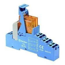 Finder 48 Series[Blank] 12V ac DIN Rail Interface Relay Module, DPDT-2C/0, Push