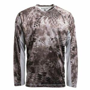 Kryptek Aura Long Sleeve Shirt, Color: Raid/Wolf Grey 19AURLSRWG5 Large