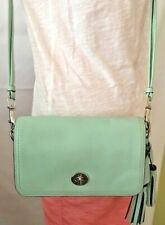 Coach Legacy Penny Turquoise Blue Robins Egg Leather Shoulder Bag 19914