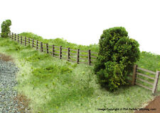 LASER CUT POST & RAIL FENCING 1:72 SCALE FOR AIRFIX MILITARY DIORAMAS - LX006-72