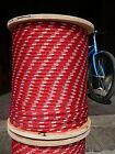 "NovaTech XLE Halyard Sheet Line, Dacron Sailboat Rope 5/16"" x 42' Red/White"