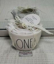 💯RAE DUNN 4 pc MEASURING CUPS Ceramic Baking Kitchen Set One Half Third Quarter