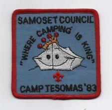 1983 Camp Tesomas (Samoset Council) Patch, Mint!