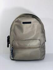 Tommy Hilfiger Leather Backpack School Travel Bag Laptop Sleeve Grey
