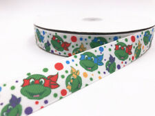 DIY 5 Yard 1'' 25MM Turtle Printed Grosgrain Ribbon Hair Bow Sewing Ribbon