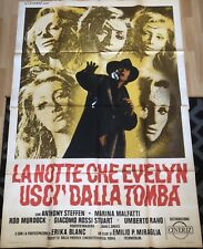 THE NIGHT EVELYN CAME OUT OF THE GRAVE 1971 ITALIAN 4-SHT POSTER NEAR MINT