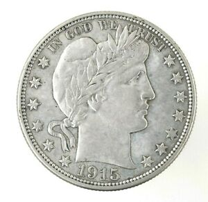 1915-D Barber Silver Half Dollar XF-AU NICE ESTATE COIN