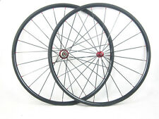 Straight Pull 24mm Carbon Bicycle Clincher Wheels 23mm Width Road Bike Wheelset