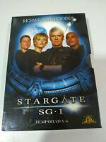 STARGATE SG 1 SEXTA TEMPORADA 6 SERIE TV 6 X DVD + EXTRAS ESPAÑOL ENGLISH