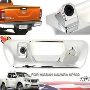 Chrome Tailgate Handle Bowl Cover Camera For Nissan Navara NP300 D23 2015-18