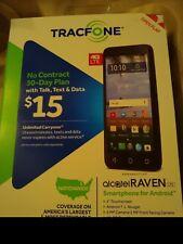 NEW Tracfone Alcatel Raven prepaid smartphone