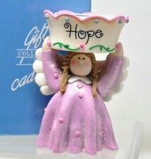 AVON ANGEL TEALIGHT HOPE CANDLE HOLDER Pink Tea Light
