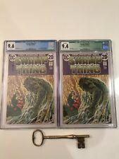 Swamp Thing #1 x's 2 CGC 9.6 & 9.4 Signed Bernie Wrightson Origin of Swamp Thing