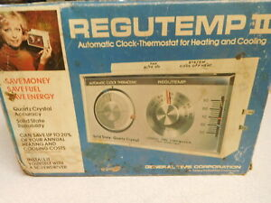 Regutemp II Automatic Clock/Thermostat for Heating/Cooling - Vintage GE