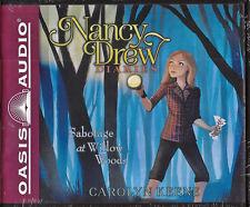 NEW Nancy Drew Diaries Sabotage at Willow Wood Carolyn Keene Audio Book 5 CD VOL