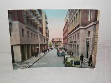 Vecchia cartolina foto d epoca di BENEVENTO VIA ARCO TRAIANO 1964 strada da