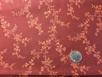 1 Yd Rust Floral Vine VIP Cranston Print Works Quilting Fabric