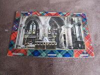 B&R camera series Scottish Greeting postcard - Scottish clans & tartan -Church