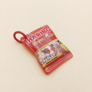 10PCS Resin Candy Snack Bag Charms Pendant For DIY Necklace Earring Keychain