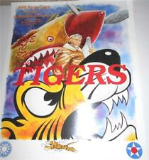 "AVG FLYING TIGERS ART POSTER - 1996 GALA & MEDALS CEREMONY - 22""W X 18""H. EXC."