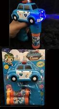 LIGHT UP POLICE CAR BUBBLE GUN WITH SOUND toy bottle bubbles maker machine NEW