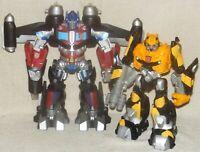 Hasbro Transformers Mega Power Bots Optimus Prime & Bumblebee Lights Sound Works
