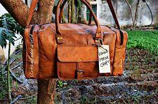 overnight Bag Men's genuine Leather large vintage Muffle Travel gym weekend Big