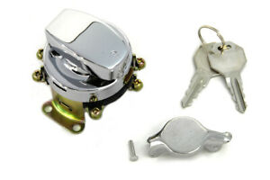 Fat Bob Ignition Switch with 6 Terminals Chrome For Harley Davidson