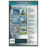 South Georgia 2002 Guinness Records Sea Mammals Sheetlet of 6 Stamps MUH 12-14