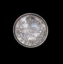 1905 Canada 5 Cents silver coin AU high grade