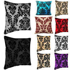 "Damask Flock Cushion Covers OR Inner Pads Insert Fillers 18""x18""  20""x20"" Size"