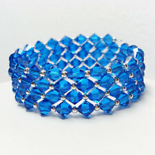 Sapphire Swarovski Crystal Elements Bracelet by LEA Jewellery