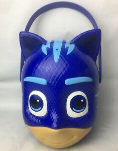 Disney's PJ Masks Cat Boy Plastic Halloween Bucket/Basket w/Handle Easter Blue