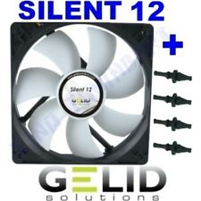 12V VENTOLA CASE PC 12cm 120mm GELID SILENT 12 +GOMMINI