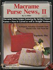 Macrame Purse News Vol. 2 Liz Miller Vintage Pattern Instruction Book NEW